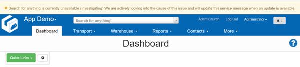 disruption notification