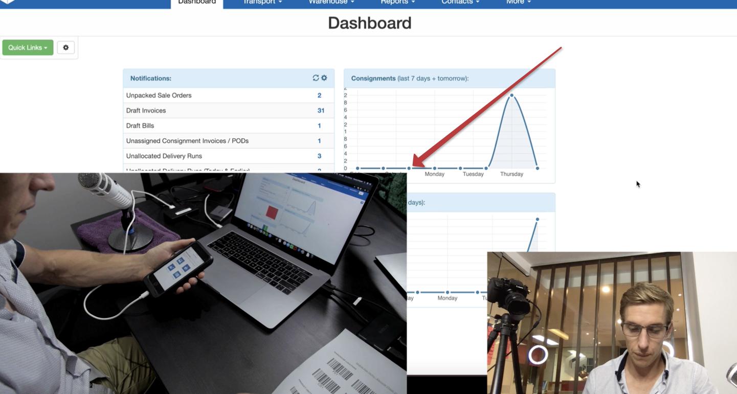 Overshoulder Webcam